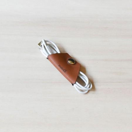 Studio D. Leather Cable Clip
