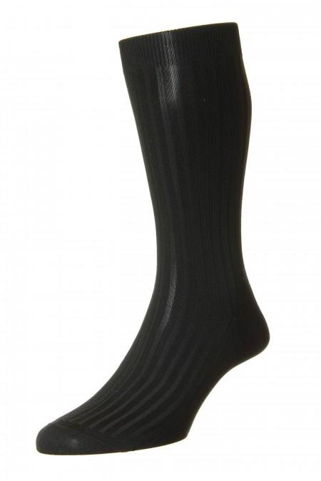 Pantherella Socks - Rib Black