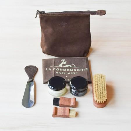 La Cordonnerie Anglaise travel shoe care set
