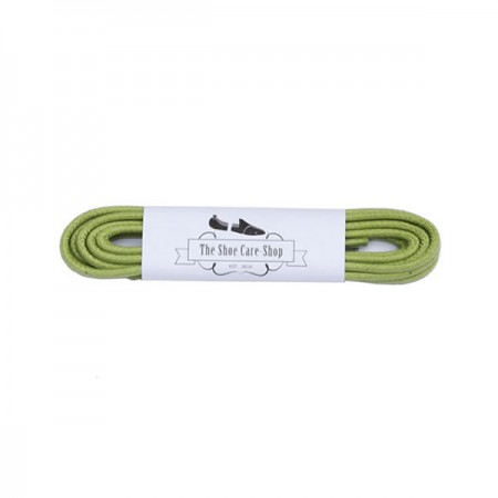 Waxed Shoe Laces - Green