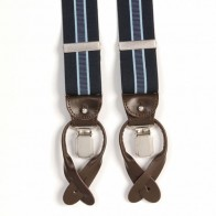 Luxurious Profuomo Braces Blue Striped