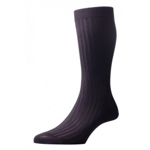 Pantherella Socks - Rib Dark Grey
