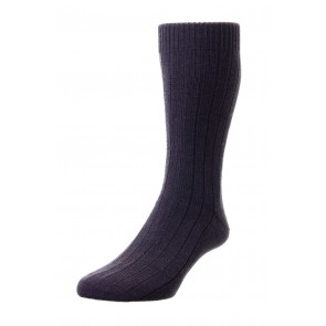 Pantherella Socks - Rib Dark Brown