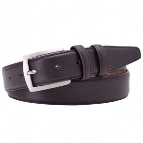 Dark Brown Leather Belt By Profuomo