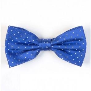 Pre-Tied Bow Tie - Blue Dots