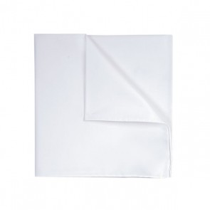 Profuomo Pocket Square - White Twill Cotton