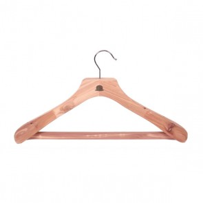 Luxurious cedar clothhanger with trouser bar