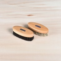 Saphir Shoe Shine Brushes Set, 100% horsehair