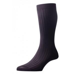 Pantherella Socks - Rib Dark Grey